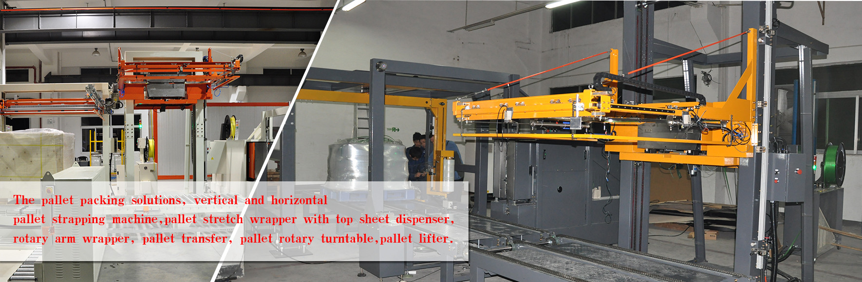 robopac siat wulftec Arpac Cyklop Foxpkg Lantech stretch wrapper case pallet strapping machine