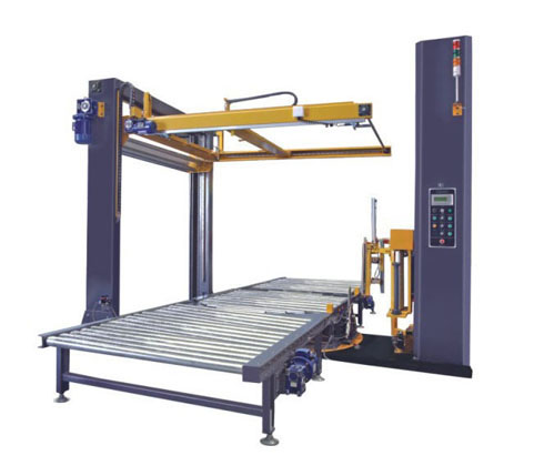 G6 + SD1  Fully-Auto Pallet Wrapper + Top Sheet Dispenser