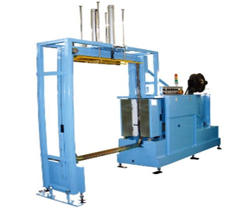 HN-VP01 Side Sealed Pallet Strapper - Vertical Strapping with top press arm