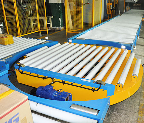 pallet rotary turntable conveyor line