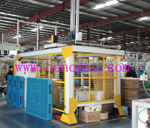4 axises servo gantry palletizer machine